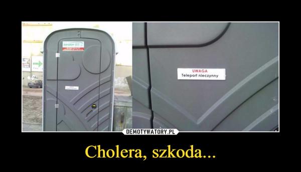 Cholera, szkoda... –  UWAGATeleport nieczynny